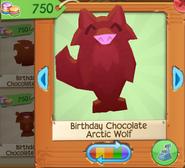 Birthday chocolate arctic wolf 4