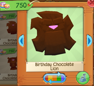 Birthday chocolate lion 2