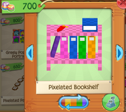 Pixelated bookshelf 3
