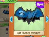 Bat Shaped Window