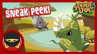Rhino Sneak Peek! - Animal Jam-2