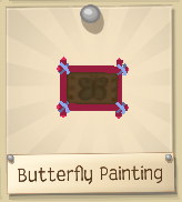 Butterfly painting dark pink frame