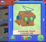 Homemade robot costumn hat 1