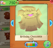 Birthday chocolate lion 1