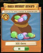 Daily member reward