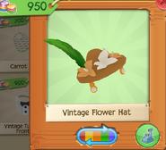 Vintage Flower Hat Brown (2)