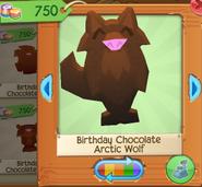 Birthday chocolate arctic wolf 2