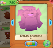 Birthday chocolate lion 3