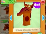Birthday Chocolate Giraffe