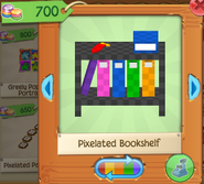 Pixelated bookshelf 4