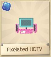 Pixelated HDTV pink