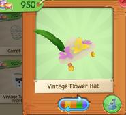Vintage Flower Hat White (4)