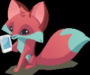 Fox Holding Phone