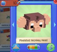 Pixelated monkey head 1