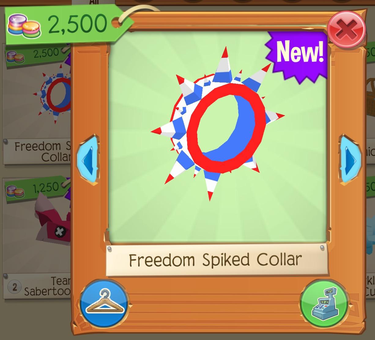 Freedom Spiked Collar | Play Wild Wiki | FANDOM powered by Wikia