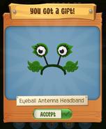 Eyeball antenna headband pack runs