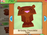 Birthday Chocolate Tiger