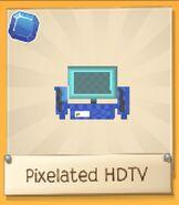 Pixelated HDTV blue