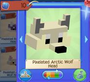 Pixelated arctic wolf head 1