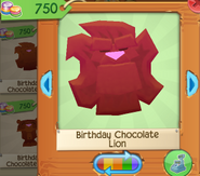 Birthday chocolate lion 4