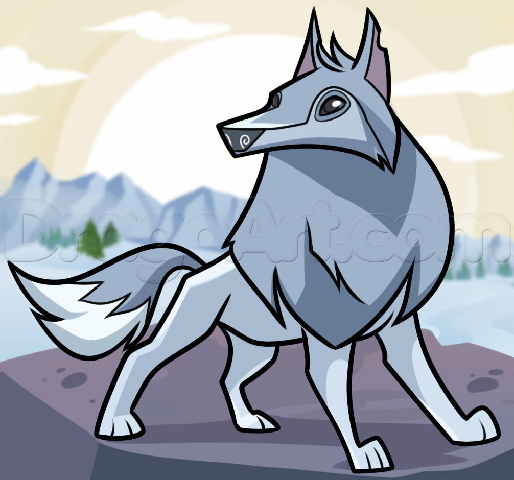 Image how to draw an animal jam arctic wolf 1 - Animaljam wiki ...