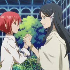 Kiharu asking Skirayuki to hold the bell for the exam.