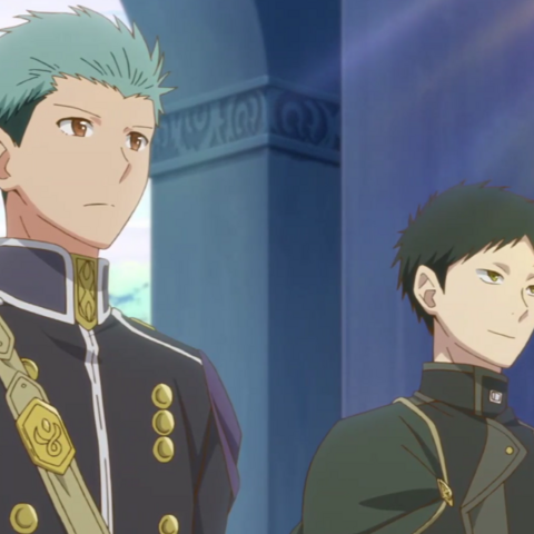 Mitsuhide and Obi formal guard attire