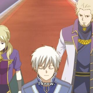 Lord Haruka walking with Zen and Kiki while having a discussion with Zen.