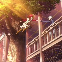 Shirayuki jumping to Zen.