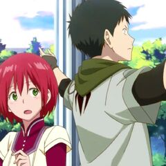 Obi tells a surprised Shirayuki to run into the forest.