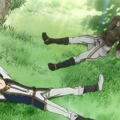 Atori and Zen lazing around.