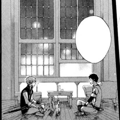 Zen and Obi in the Pharmacy Lounge at night. (<a href=