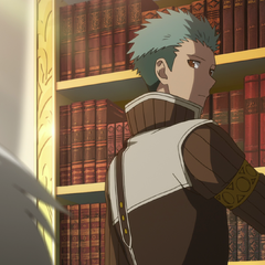 Mitsuhide examining Zen.
