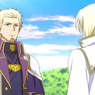 Lord Haruka talking with Prince Izana