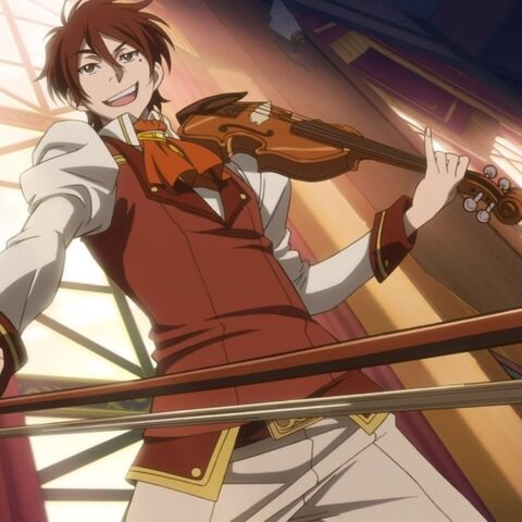 Raj about to play his violin for Shirayuki.