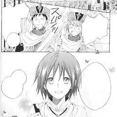 Gaurds are shocked by Shirayuki's hair.