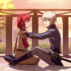 Zen and Shirayuki talk together.