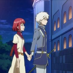 Zen informing Shirayuki of what happened at the tea party.