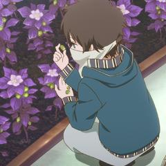 Ryuu picking Roka seeds.