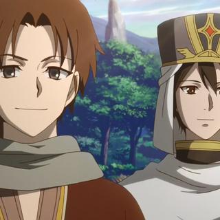 Mihaya with Shikito after Shirayuki has been found safely.