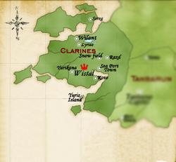 Clarines map
