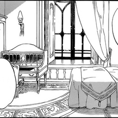 The room in which Shirayuki stayed while stationed in Lilias. (Chapter 60)