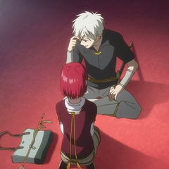 Shirayuki and Zen discuss the threat to her within the castle.