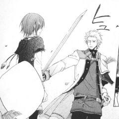 Lord Haruka confronts Shirayuki as an intruder.