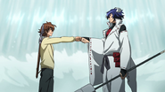 Tatsumi & Susanoo Fist Bump