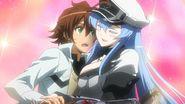 Esdeath hugs Tatsumi