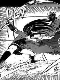 Akame corta a Izou