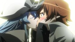 Esdeaths second kiss with Tatsumi