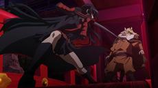 Akame y Leone asesinando a Gamal