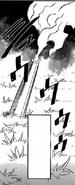 Arrows releasing poisonous gas